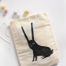 Printable Bunny Iron-on Transfer Design from MerMag