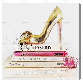 Oliver Gal - Gold Shoe And Fashion Books
