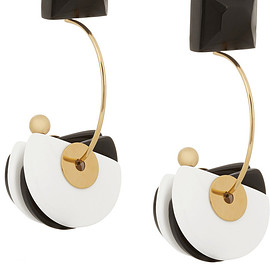 MARNI - SS2015 Gold-plated, horn and resin clip earrings
