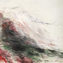 "Cy Twombly - ""Hero and Leandro , 1984 Part Ⅰ """