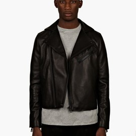 Acne - Men's Black Gibson Clean Leather Jacket