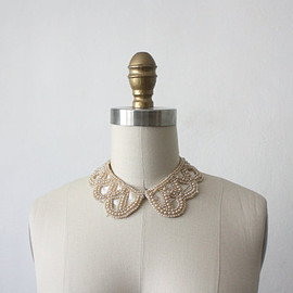 vintage 1950s silk beaded collar