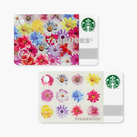 STARBUCKS × fragment - Mini Starbucks Card Flower color