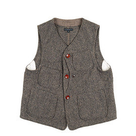 ENGINEERED GARMENTS - Upland Vest-Homespun-Brown