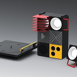 IKEA, Teenage Engineering - Frekvens (Console & Speaker Modules w/ Turntable) - Black/Red/Yellow