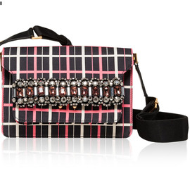 "MARNI - SS2014 ""Graph Lines"" print TRUNK BAG"