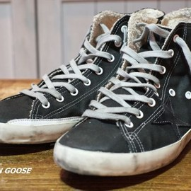 GOLDEN GOOSE - GOLDENGOOSE/SNEAKERFRANCY-BLACKCANVAS-