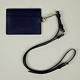 JIL SANDER - Card Holder With Strap in Blue