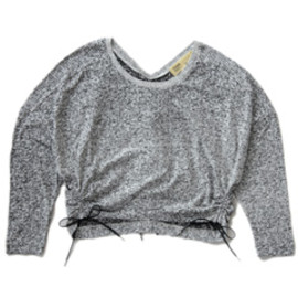 TOGA - Tweed Print Jersey Tops  (white)