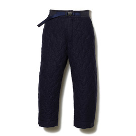 White Mountaineering - COMPRESSED WOOL GAUZE QUILTED CAPRI PANTS