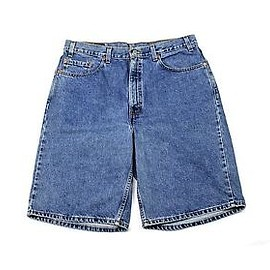 "LEVI'S - Vintage 90s Levis 550 Relaxed Fit Jean Shorts ""Jorts"" Made in USA Mens Size W38"