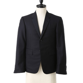 THOM BROWNE - CLASSIC S/C IN BLACK WOOL