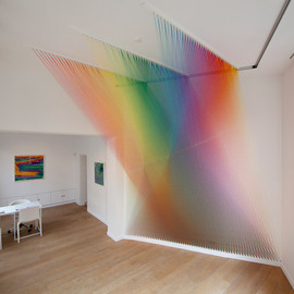 Gabriel Dawe - Plexus, polychromatic thread sculptures