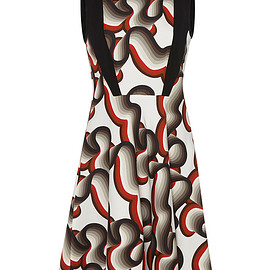 Jonathan Saunders - FW2015 Printed High Neck Trinity Dress