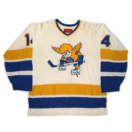 Minnesota Fighting Saints 74-75 Vintage WHA Hockey Sweater (Away) / Jersey