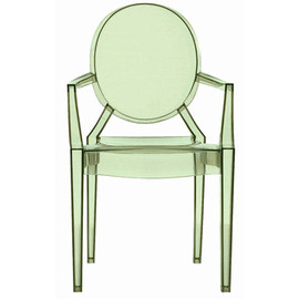 Kartell - Lou Lou Ghost Kids' Armchair (Green) by Philippe Starck