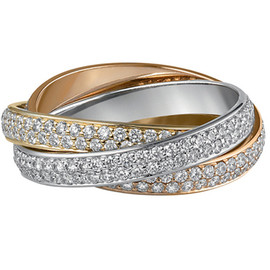 CARTIER - Trinity, Pink Gold×Yellow Gold×White Gold×Diamond