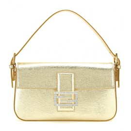 FENDI - Baguette metallic leather shoulder bag