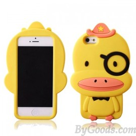Cute Cartoon Yellow Duck Silicone Iphone 4/4s/5 Case