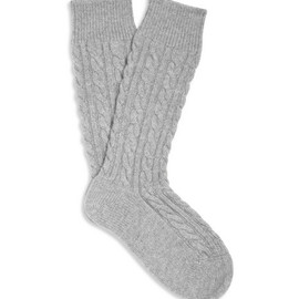 Corgi - Cashmere Cable-Knit Socks