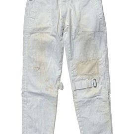 PEEL&LIFT - damaged bondage trousers color : white herringbone