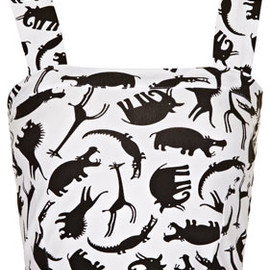TOPSHOP - Jungle Animal Bralet