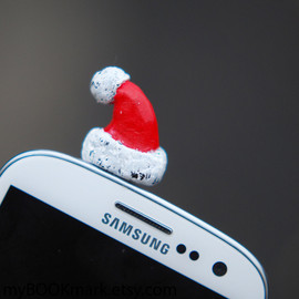 MyBookmark - Santa hat Cell phone accessory