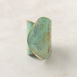 anthropologie - Aged Leaf Ring