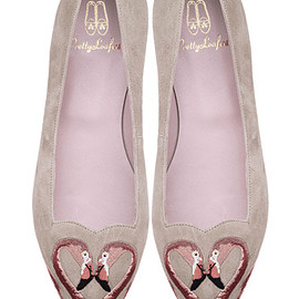 Pretty Ballerinas - Ella Suede Flamingo