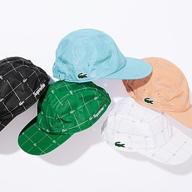 Supreme, LACOSTE - Camp Cap with 3M Reflective pattern.