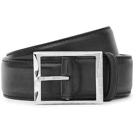 Berluti - 3.5cm Midnight-Blue Classic Polished-Leather Belt