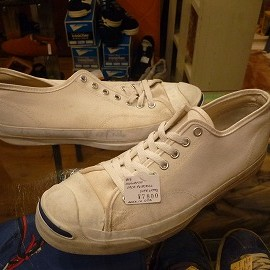 "converse - 「<used>90's converse JACK PURCELL OX white""made in USA"" size:US9/h?(28cm?) 7800yen」完売"