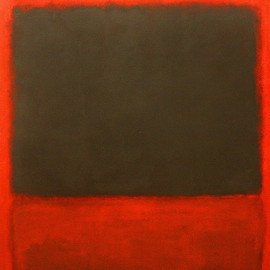 Mark Rothko  - Black, Red over Black on Red