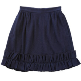 karen walker - Single Ruffle Skirt (navy)