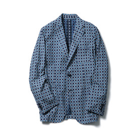 SOPHNET. - INDIGO OXFORD 3 BUTTON JACKET