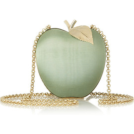 ANYA HINDMARCH - Apple satin-moiré shoulder bag