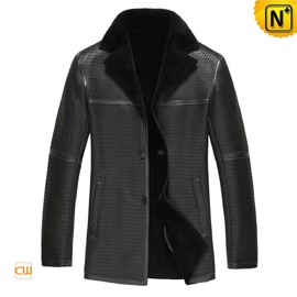 cwmalls - Designer Black Sheepskin Shearling Jacket Men CW877255