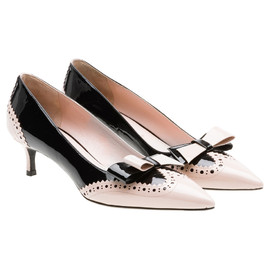 miu miu - Patent leather pump with Patent leather bow