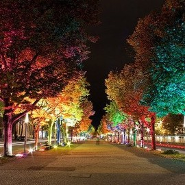 Rainbow street lights
