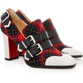 Christian Louboutin - Anita 85 buckled tartan pumps