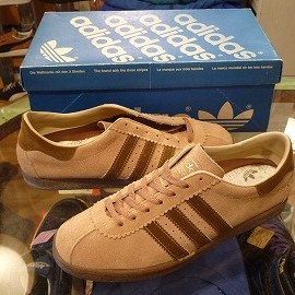 "adidas - 「<deadstock>80's adidas TOBACCO lightbrown/brown""made in CANADA"" size:US7/h(25.5cm) 15800yen」完売"