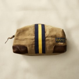 RUGBY RALPH LAUREN - Canvas and Leather Travel Case