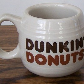 Dunkin Dounuts - Old School The Big One Dunkin Donuts Coffee Mug Two Toned Brown Lettering
