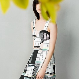 & Other Stories - Graphic Print Skater Dress