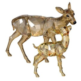 Swarovski Doe & Fawn, Crystal Golden Shadow