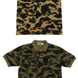 A BATHING APE - 1ST CAMO POLO