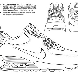 UNDEFEATED, NIKE - Coloring Book - Air Max 90 (Undefeated)