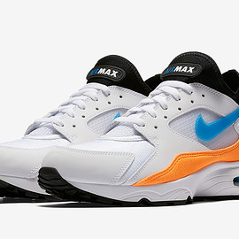 NIKE - Air Max 93 - White/Nebula Blue/Total Orange/Black