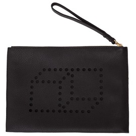PIERRE HARDY - Cube Perspective Leather Clutch