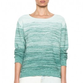 GIRL. BY BAND OF OUTSIDERS - 013/SS■Degrade Pullover Sweater in Multi Green